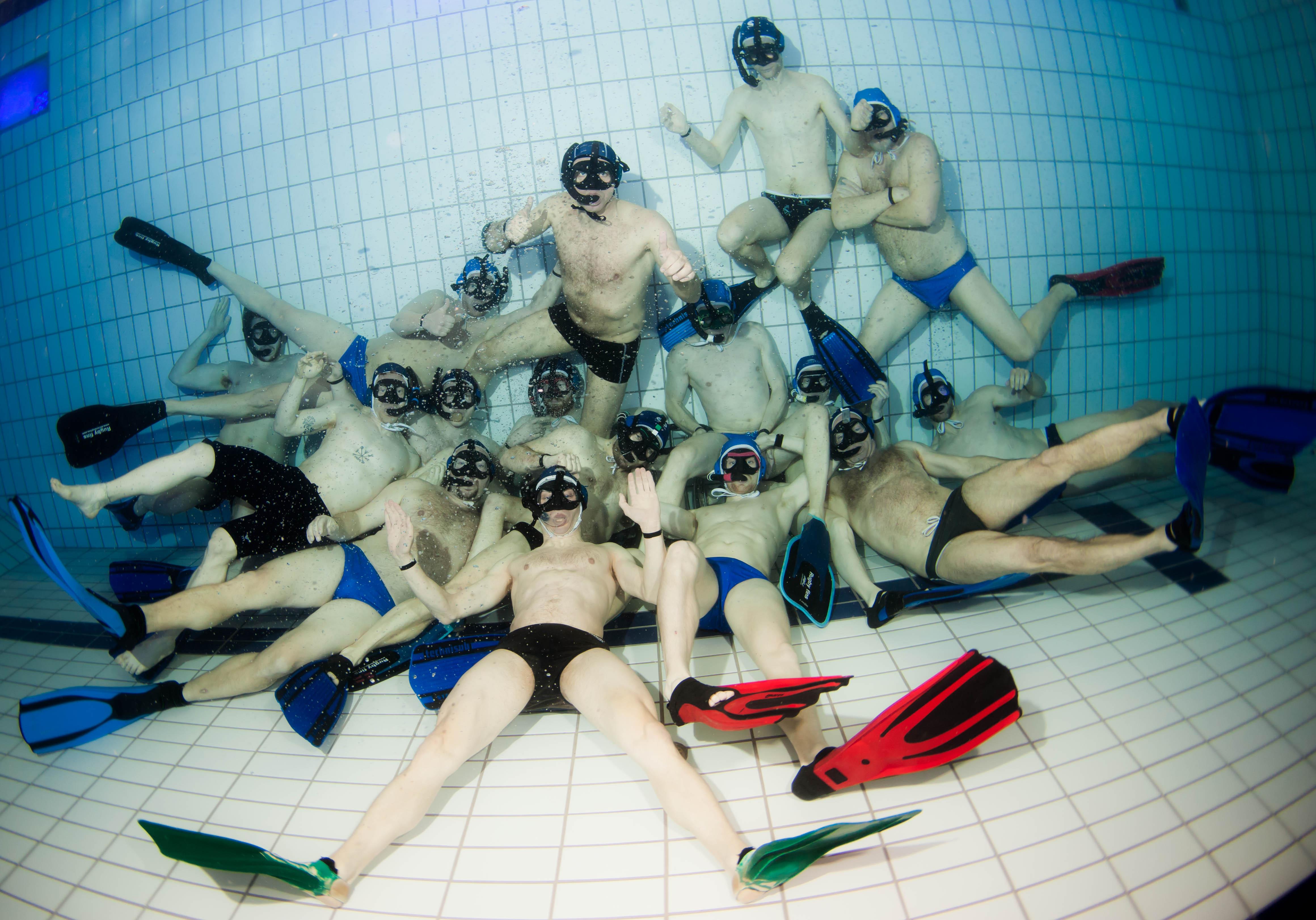 Undervandsrugby PI holdet